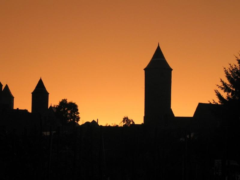 Sunset over Dinkelsbühl