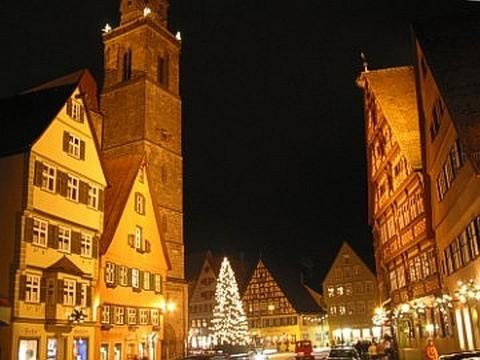 Market square at Christmas time