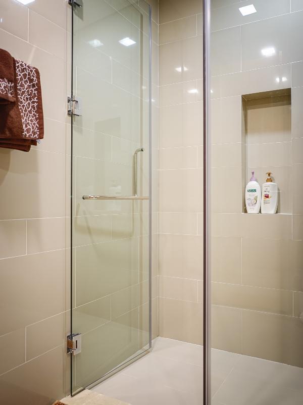 Bathroom with rain shower