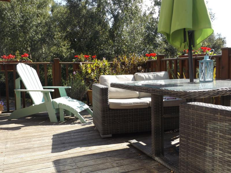 Plenty of room to relax on the decking.