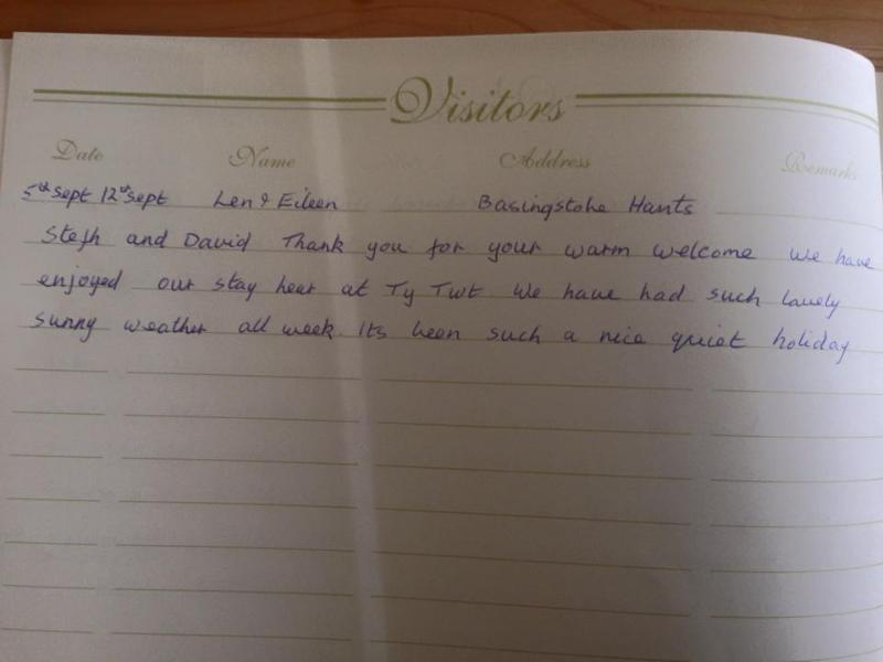 Some of the reviews from our guest book!