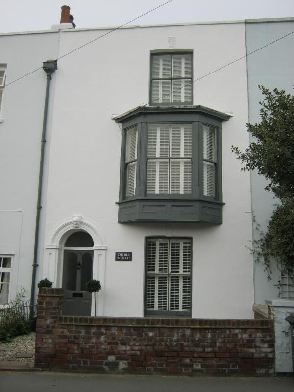 Over three floors with a large bay window