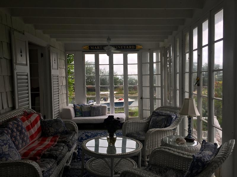 South facing sunporch overlooks water