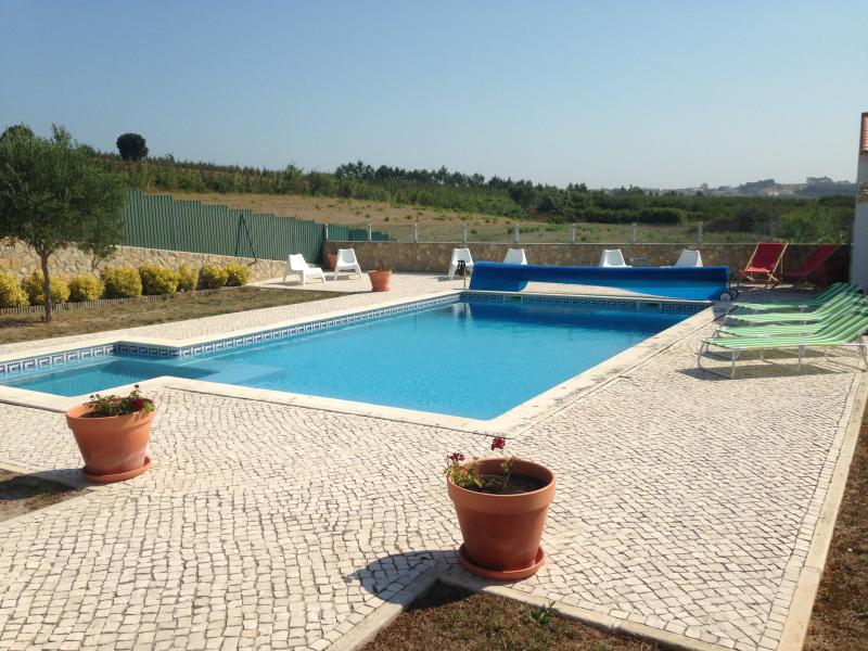 Villa pool terrace set in the rolling countryside