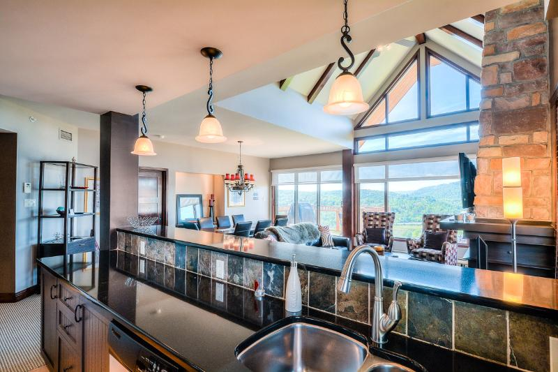 Fully-equipped kitchen with stunning views