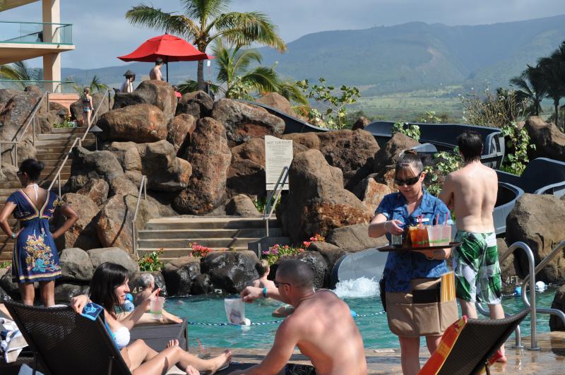 Poolside Service from Duke's Restaurant