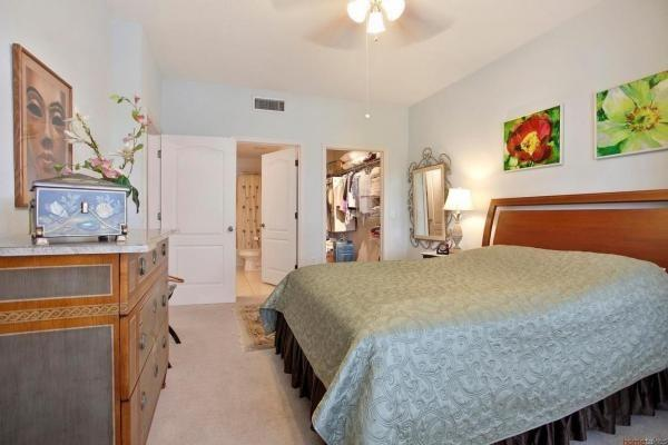 Bedroom with large walk in closet