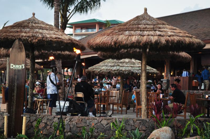 Dukes Restaurant at this resort with Live Music