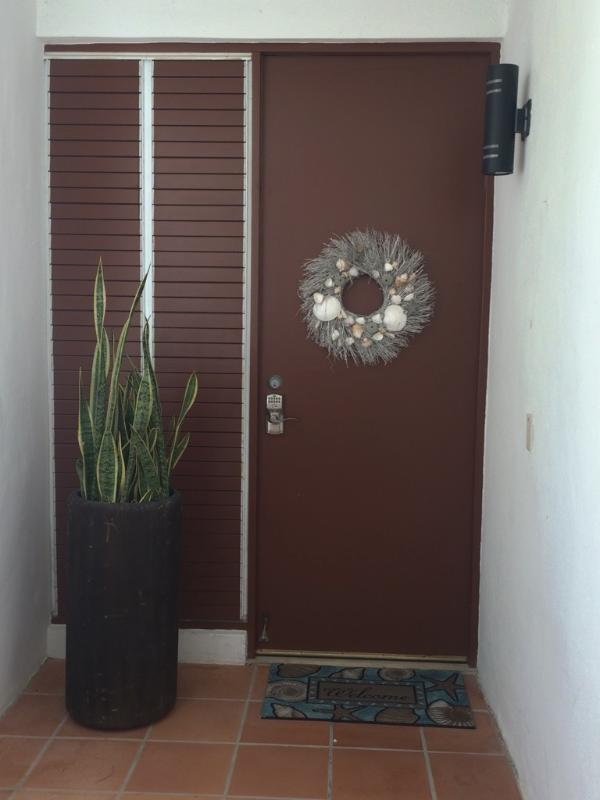 Villa front door entrance