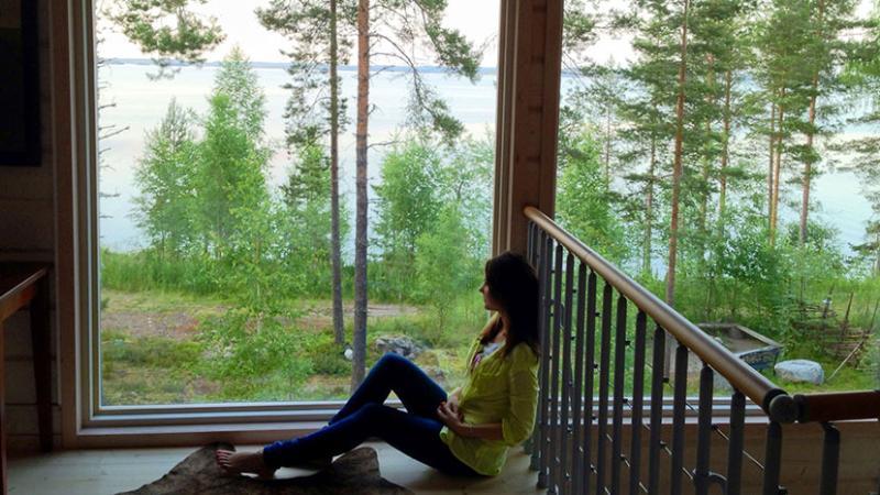 Loft window view