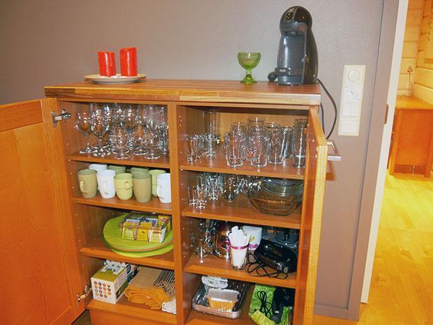 Cupboard, Dolce Gusto capsule cofee machine