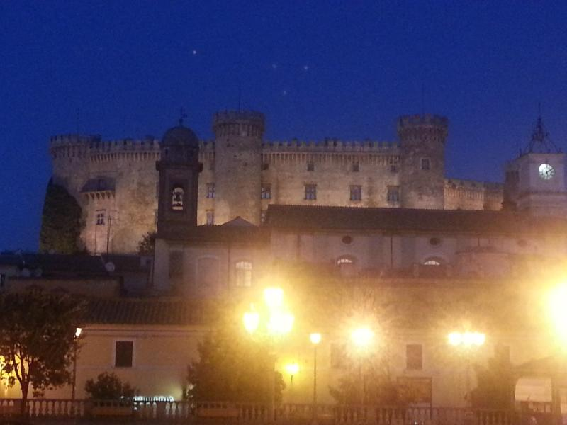 The Bracciano Castle by night