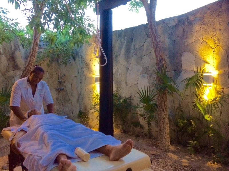 massages in the back patio.. heaven...