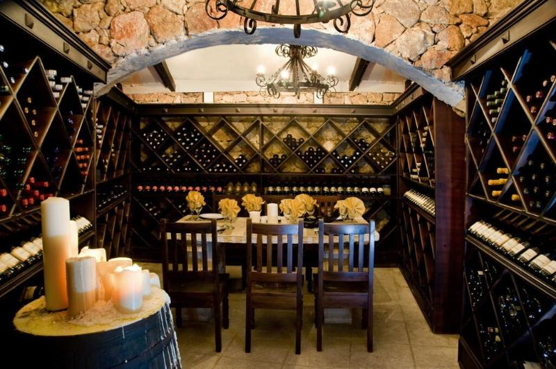 The cellar at Rodizio Brazilian food/ great for meat eaters