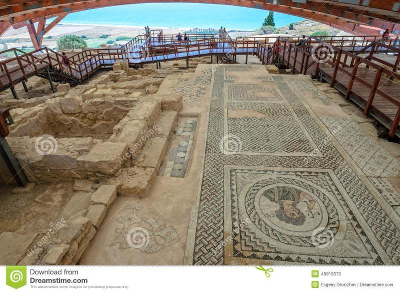 Mozaïeken van oude Kourion.