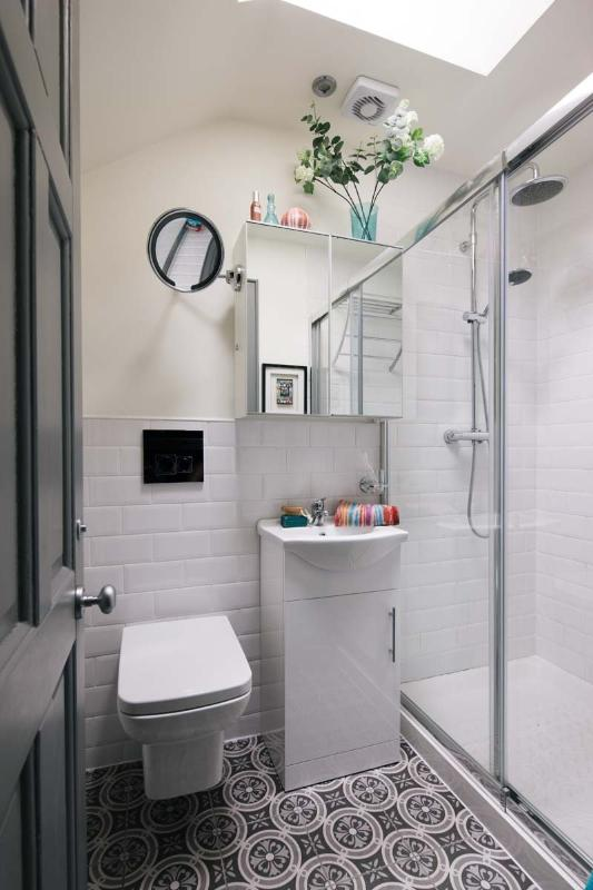 Upstairs bathroom , power shower. Its nice to have a relaxed shower . plenty of hot water.