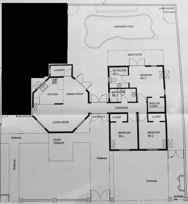 Floorplan of the villa