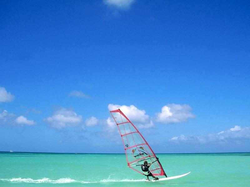In Malmok you can enjoy some great windsurfing