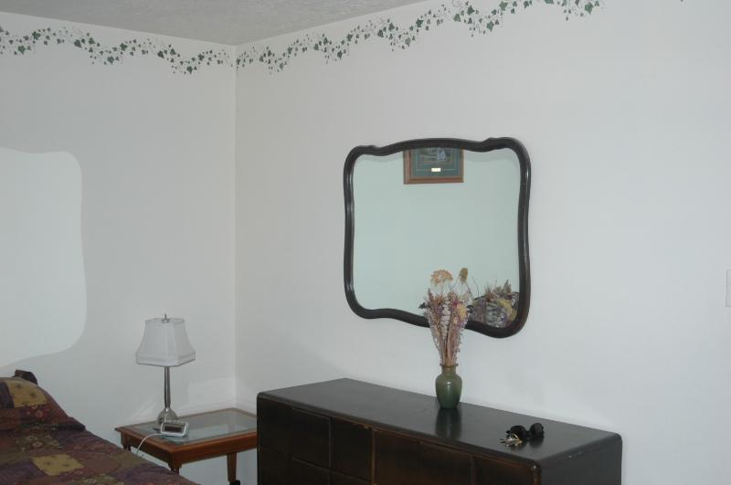 Bedroom and mirror