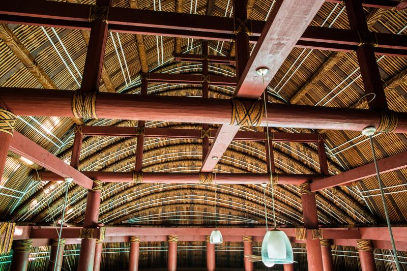 Traditional Fa'le interior roof feature.