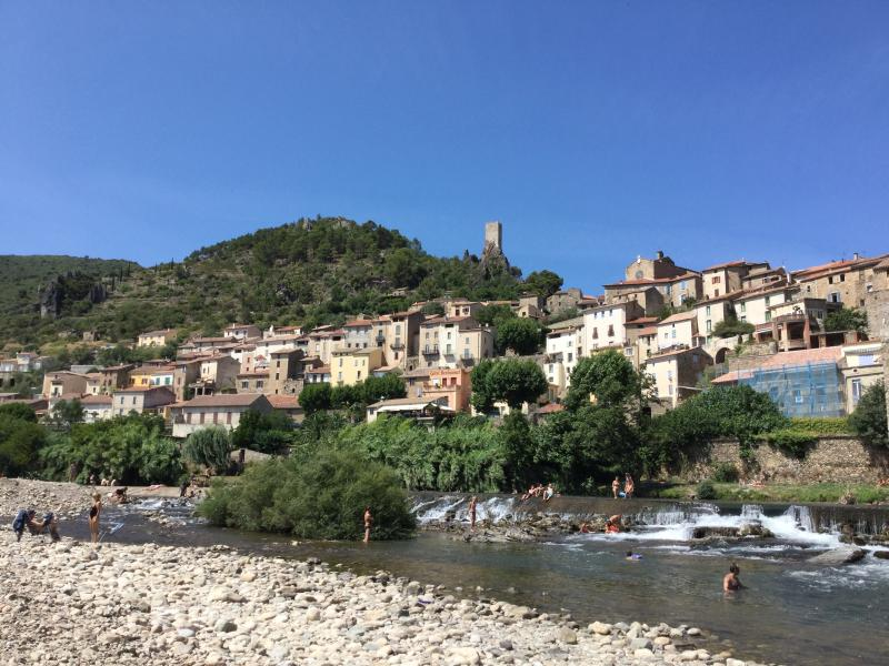 Roquebrun - beautiful village and mecca for kayaking on River Orb