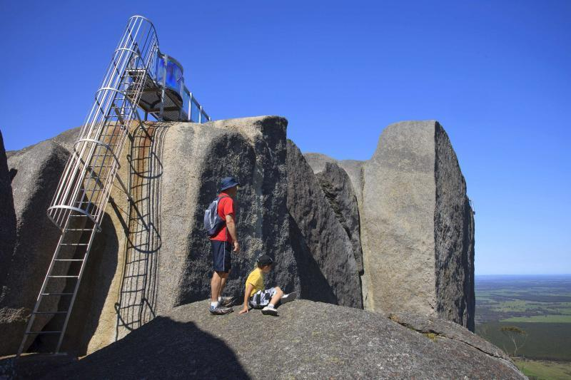 Climb to Granite Skywalk - spectacular panoramic views to Albany & South Coast, plus Stirling Ranges