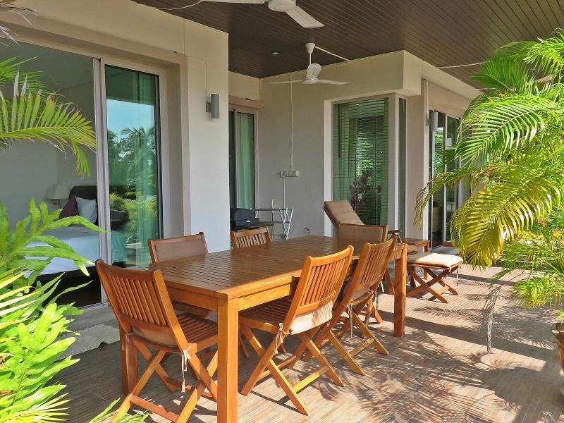 Spacious Covered Terrace Dining