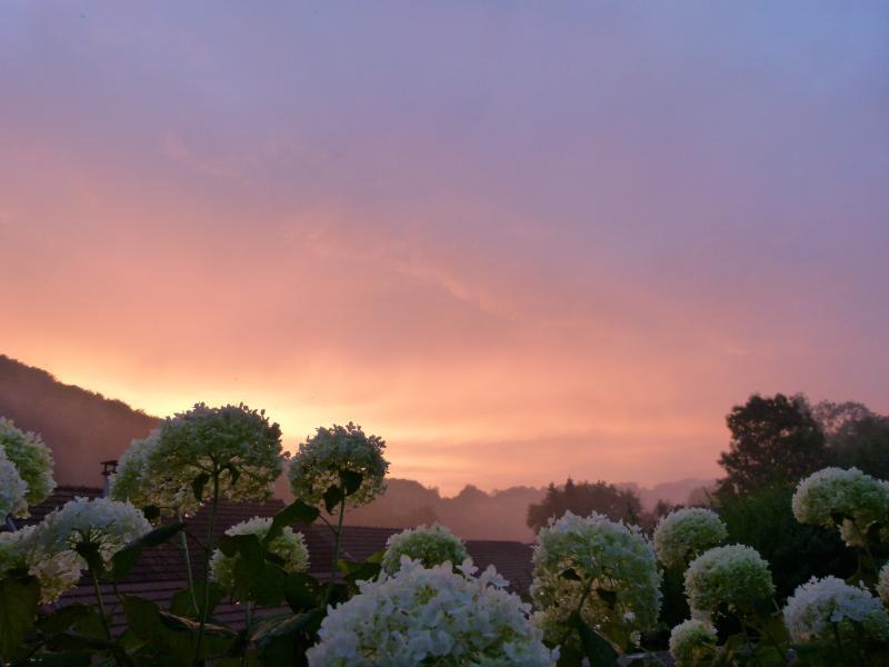 coucher de soleil au castel
