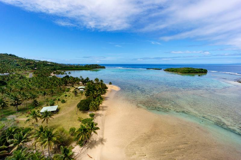 Aerial view of the Pearl Shack Fiji