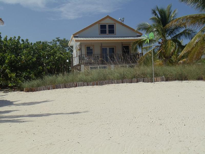 Vista de la casa de la playa