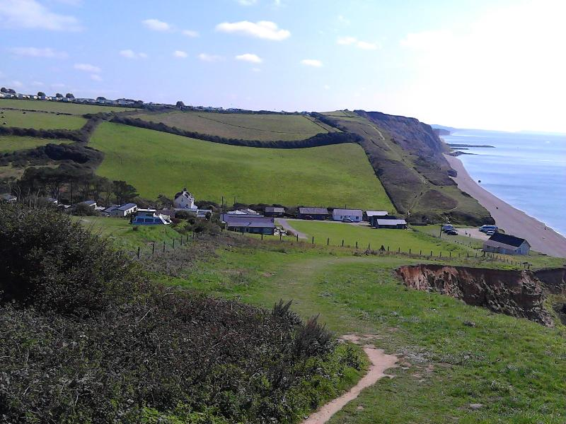 View of No 11 and Eype Beach