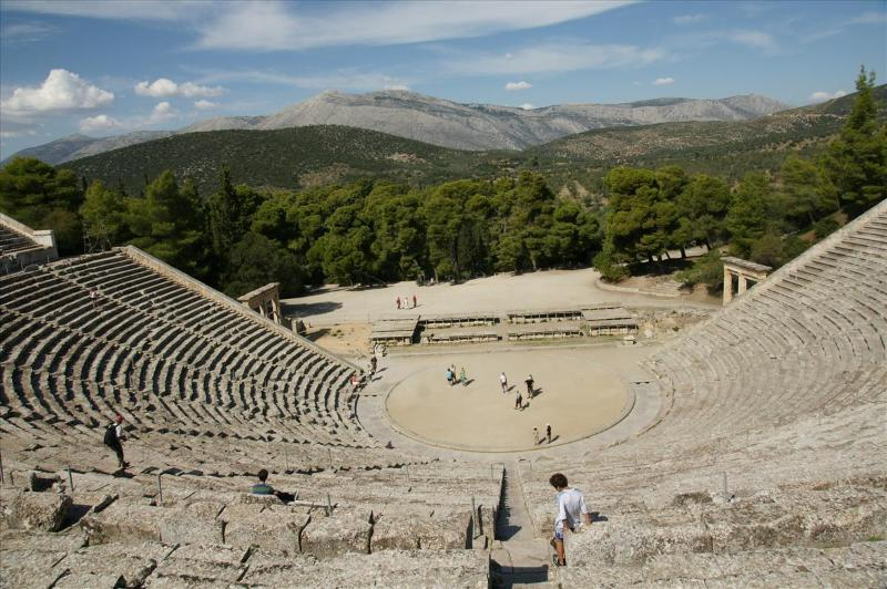 Visit the famous ancient theatre of Epidaurus 120 km from Harmony
