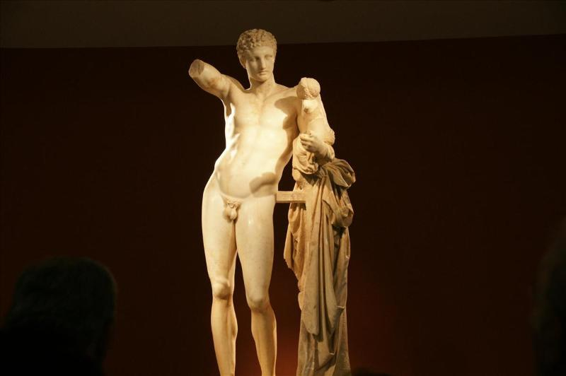 The statue of Hermes in the Museum of Olympia