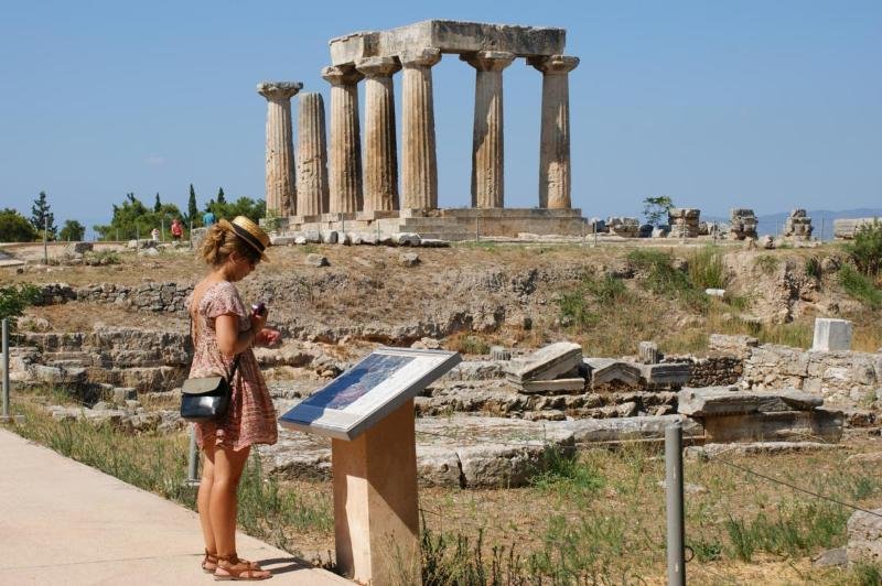 Visit in 1-day tour the ancient site of Corinth