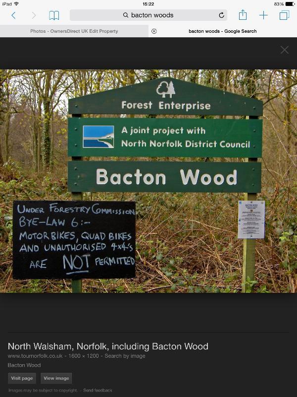 Nahe gelegenen Bacton Woods