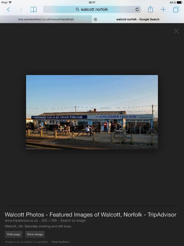 Nahe gelegenen Walcott mit Fisch und Chip-Shop, Eisdiele und Cafe