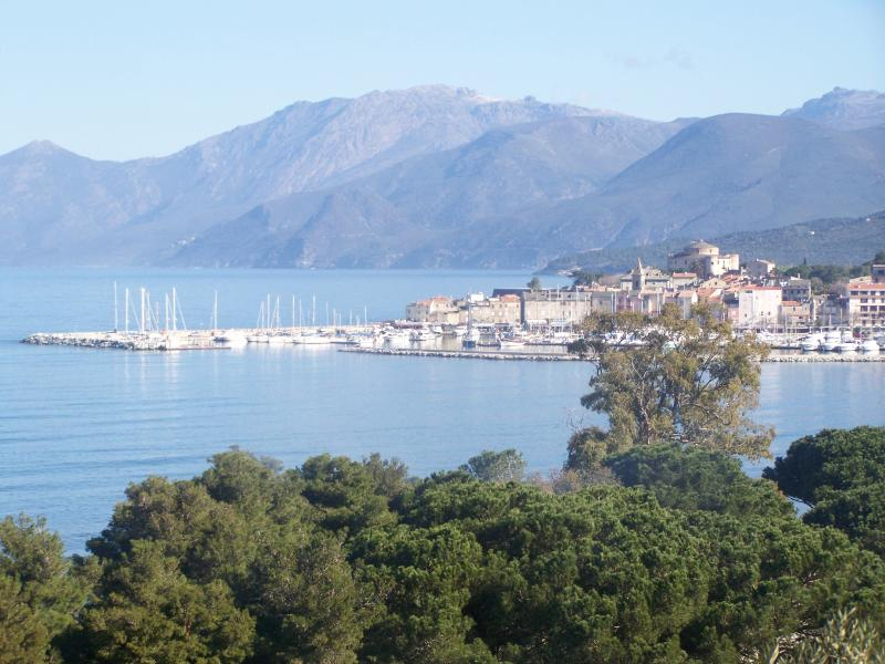 View of Saint Florent with Citadel