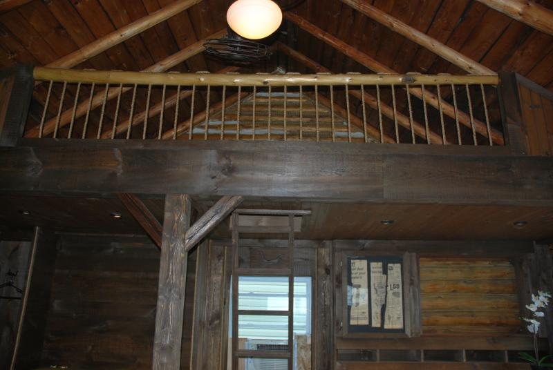 Two extra beds are in the loft (accessible by ladder.)