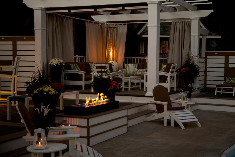 Shared beach club deck, built by Paul Lafrance.