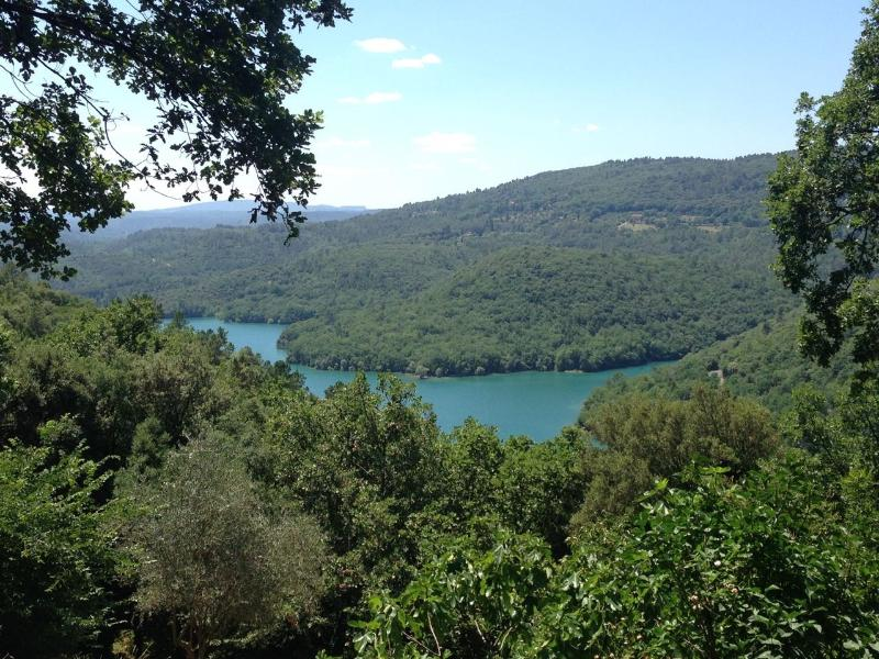 View on Lac de Saint-Cassien from the house, 15 minutes walk down the mountain