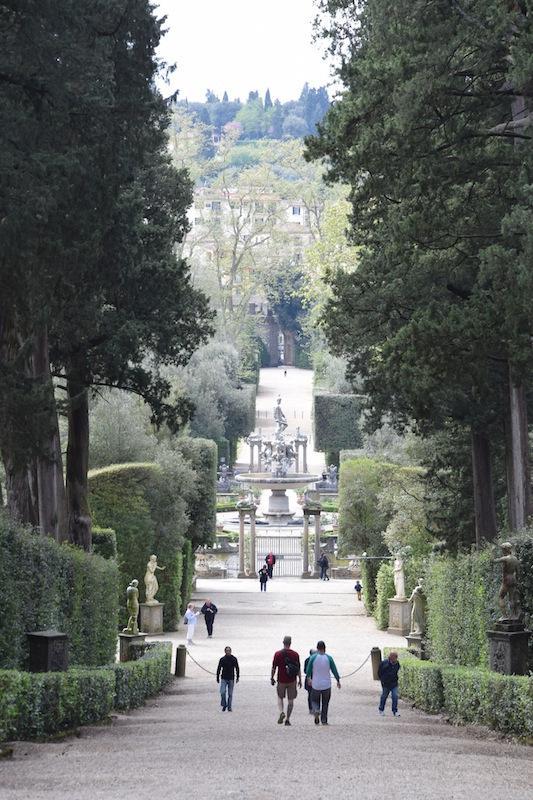 Boboli Gardens, a poca distancia