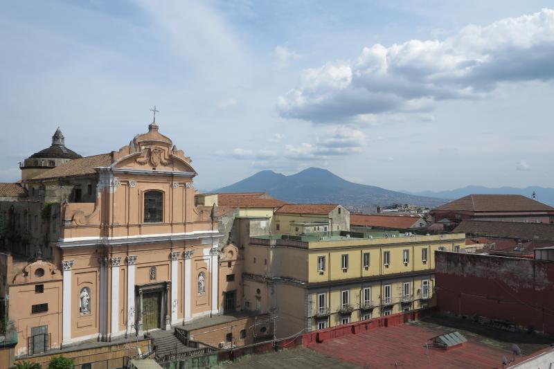View from the balconies of the annex (with view of Vesuvius)