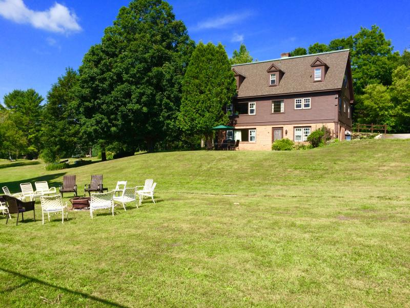 huge lawn for lawn games and campfires. great summer home for families.