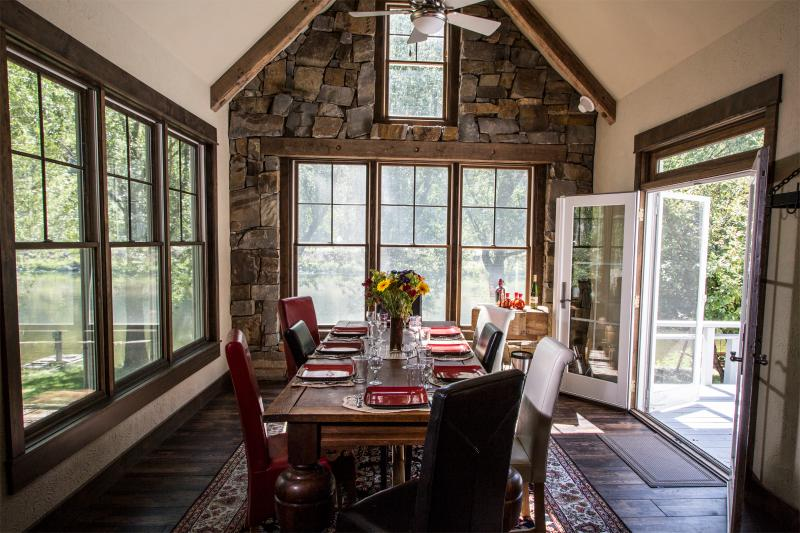 Águas calmas Lodge - sala de jantar