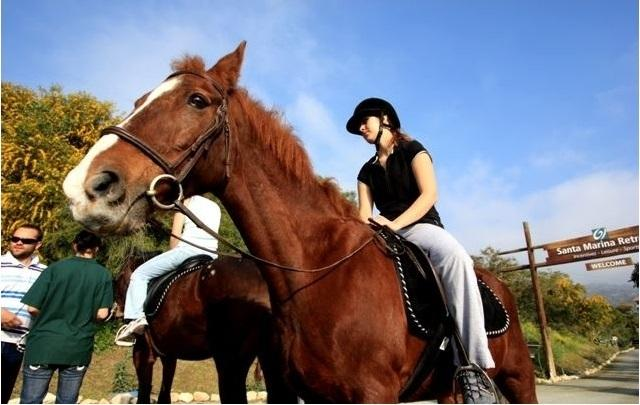 Horse riding at nearby Santa Marina Retreat