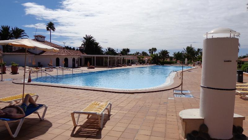 Lovely large outdoor pool heated in Winter