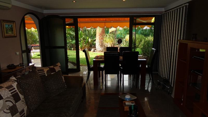 Living Room with the Doors open onto the Garden
