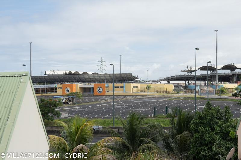 Vue sur le vélodrome de Guadeloupe