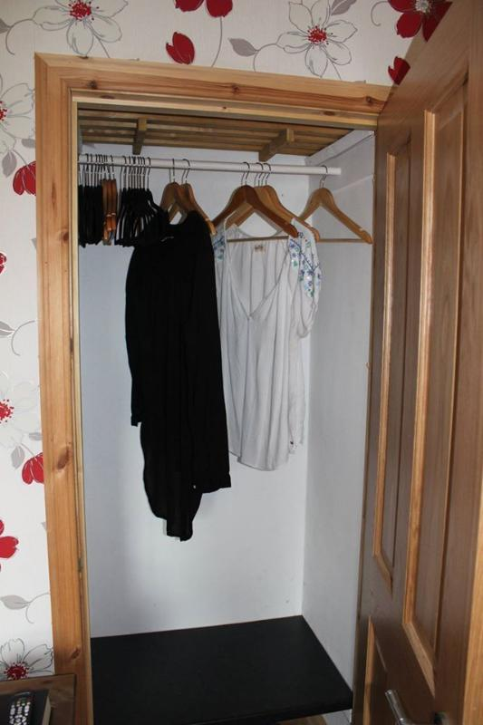 All rooms have ample wardrobe space and hangers.