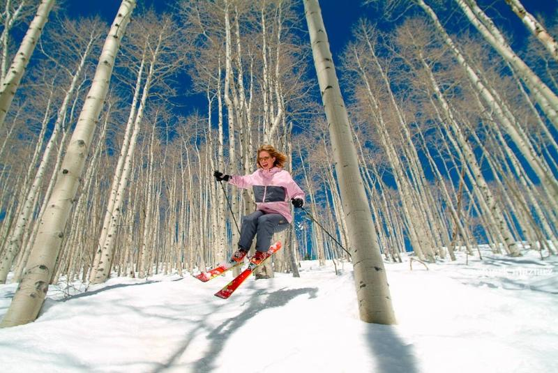 Skiing the trees at Park City. Photo from Mark's new coffee table book 'Park City: A Portrait'